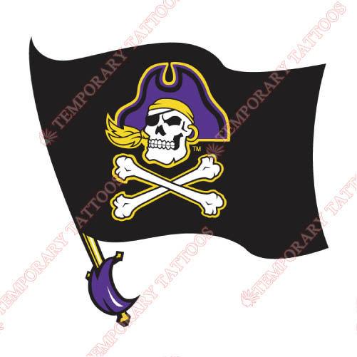 East Carolina Pirates Customize Temporary Tattoos Stickers NO.4307