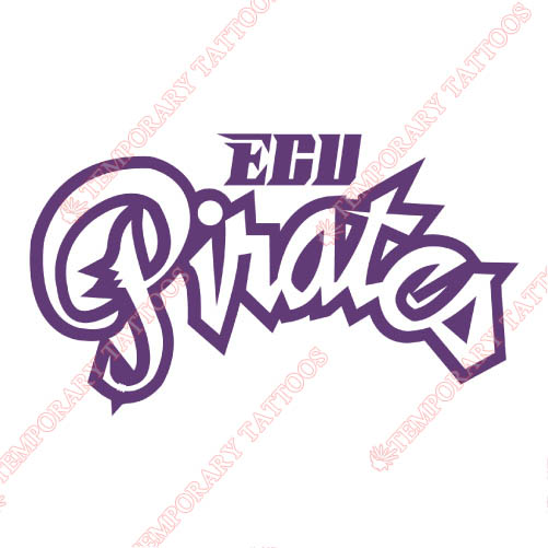 East Carolina Pirates Customize Temporary Tattoos Stickers NO.4308
