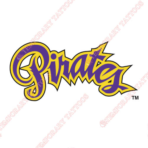 East Carolina Pirates Customize Temporary Tattoos Stickers NO.4309