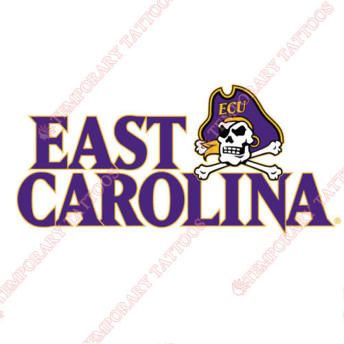 East Carolina Pirates Customize Temporary Tattoos Stickers NO.4310