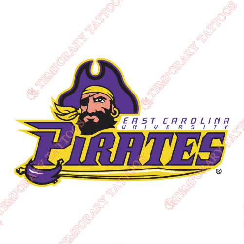 East Carolina Pirates Customize Temporary Tattoos Stickers NO.4312