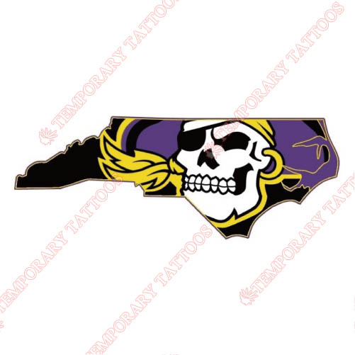 East Carolina Pirates Customize Temporary Tattoos Stickers NO.4314
