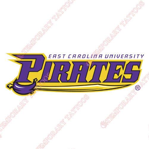 East Carolina Pirates Customize Temporary Tattoos Stickers NO.4315