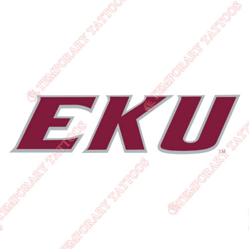 Eastern Kentucky Colonels Customize Temporary Tattoos Stickers NO.4319
