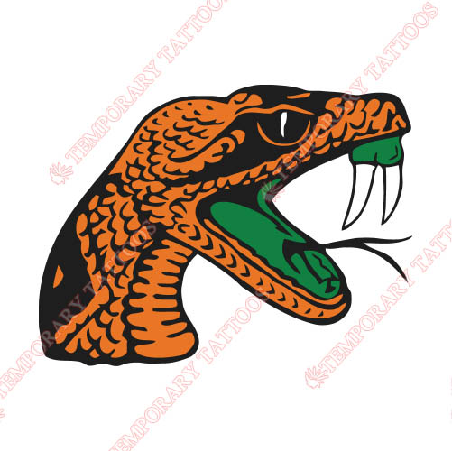 Florida A M Rattlers Customize Temporary Tattoos Stickers NO.4370