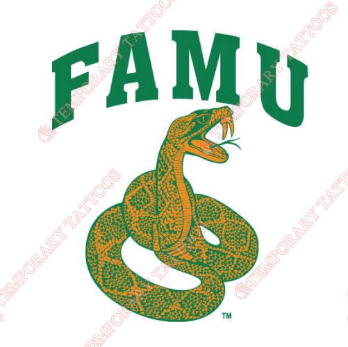 Florida A M Rattlers Customize Temporary Tattoos Stickers NO.4371