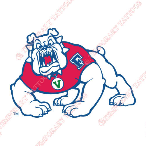 Fresno State Bulldogs Customize Temporary Tattoos Stickers NO.4419
