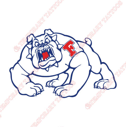 Fresno State Bulldogs Customize Temporary Tattoos Stickers NO.4422
