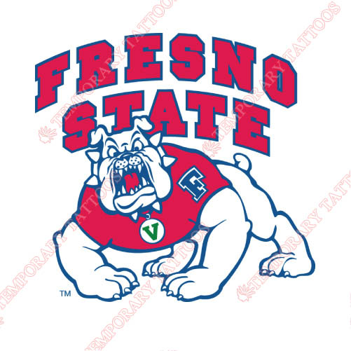 Fresno State Bulldogs Customize Temporary Tattoos Stickers NO.4423
