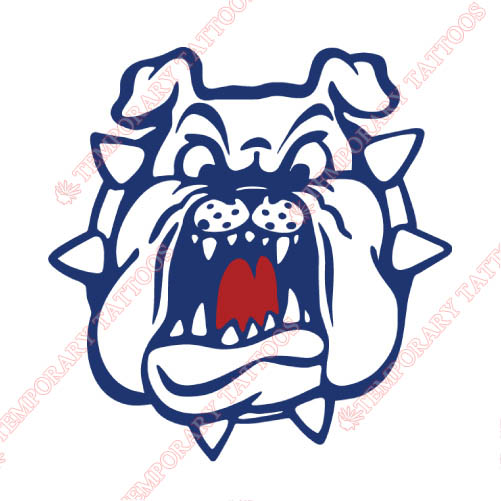 Fresno State Bulldogs Customize Temporary Tattoos Stickers NO.4424