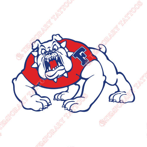 Fresno State Bulldogs Customize Temporary Tattoos Stickers NO.4426