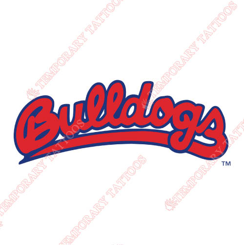 Fresno State Bulldogs Customize Temporary Tattoos Stickers NO.4427