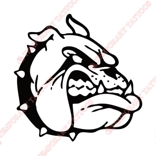 Gardner Webb Bulldogs Customize Temporary Tattoos Stickers NO.4437