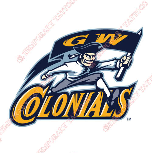 George Washington Colonials Customize Temporary Tattoos Stickers NO.4449