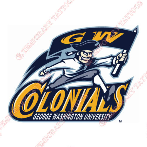 George Washington Colonials Customize Temporary Tattoos Stickers NO.4452