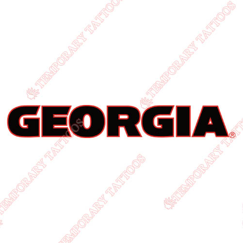 Georgia Bulldogs Customize Temporary Tattoos Stickers NO.4468
