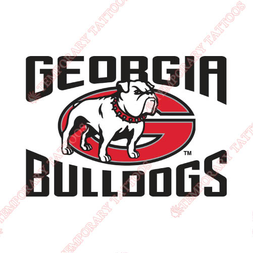 Georgia Bulldogs Customize Temporary Tattoos Stickers NO.4471