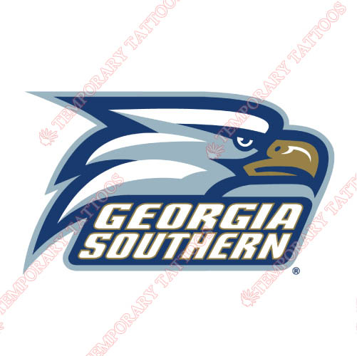 Georgia Southern Eagles Customize Temporary Tattoos Stickers NO.4478