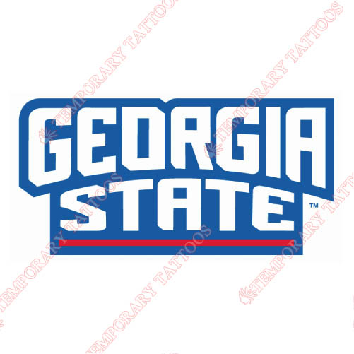 Georgia State Panthers Customize Temporary Tattoos Stickers NO.4490