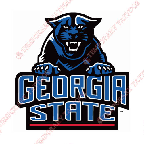 Georgia State Panthers Customize Temporary Tattoos Stickers NO.4491