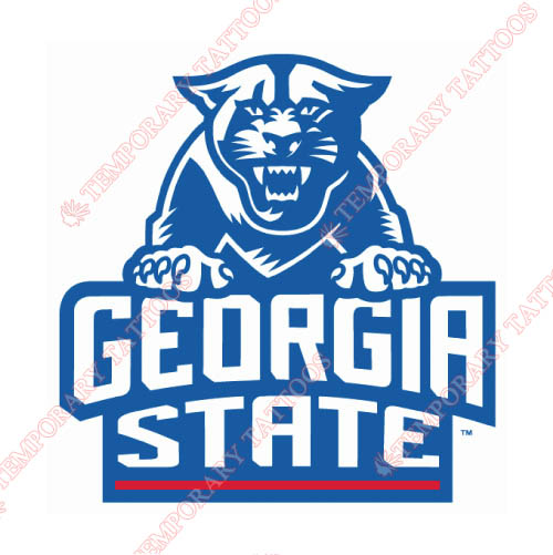 Georgia State Panthers Customize Temporary Tattoos Stickers NO.4492