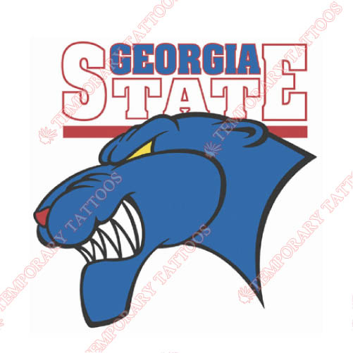 Georgia State Panthers Customize Temporary Tattoos Stickers NO.4493