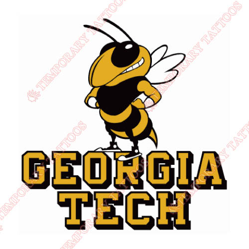 Georgia Tech Yellow Jackets Customize Temporary Tattoos Stickers NO.4495