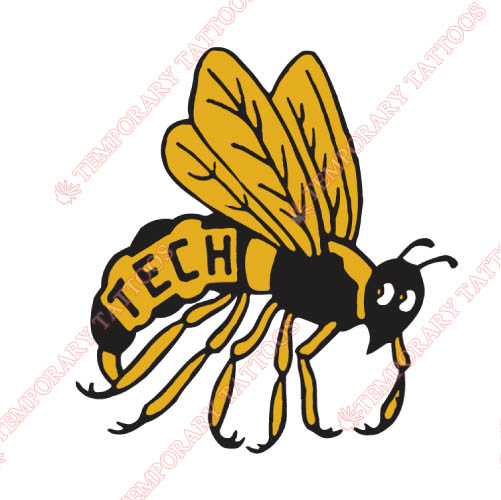 Georgia Tech Yellow Jackets Customize Temporary Tattoos Stickers NO.4496