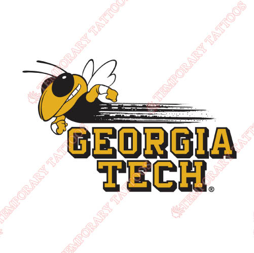 Georgia Tech Yellow Jackets Customize Temporary Tattoos Stickers NO.4497