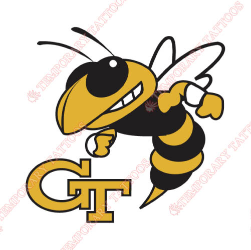 Georgia Tech Yellow Jackets Customize Temporary Tattoos Stickers NO.4498