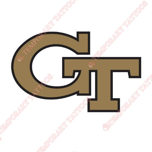 Georgia Tech Yellow Jackets Customize Temporary Tattoos Stickers NO.4500