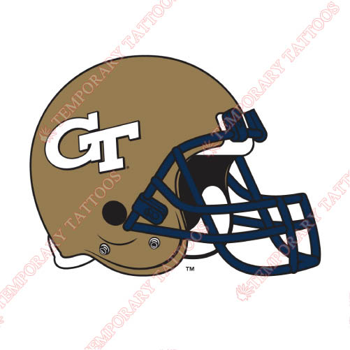 Georgia Tech Yellow Jackets Customize Temporary Tattoos Stickers NO.4504