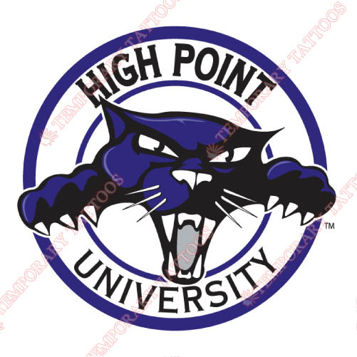 High Point Panthers Customize Temporary Tattoos Stickers NO.4548