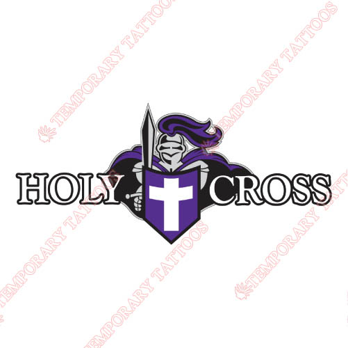 Holy Cross Crusaders Customize Temporary Tattoos Stickers NO.4564