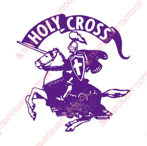 Holy Cross Crusaders Customize Temporary Tattoos Stickers NO.4566