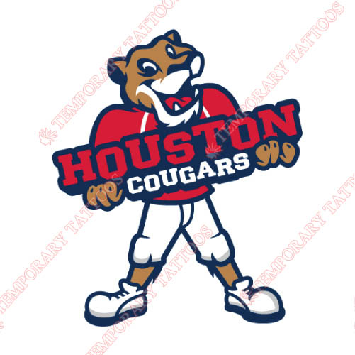 Houston Cougars Customize Temporary Tattoos Stickers NO.4573