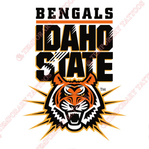 Idaho State Bengals Customize Temporary Tattoos Stickers NO.4587