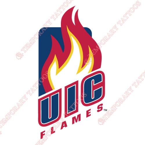 Illinois Chicago Flames Customize Temporary Tattoos Stickers NO.4601