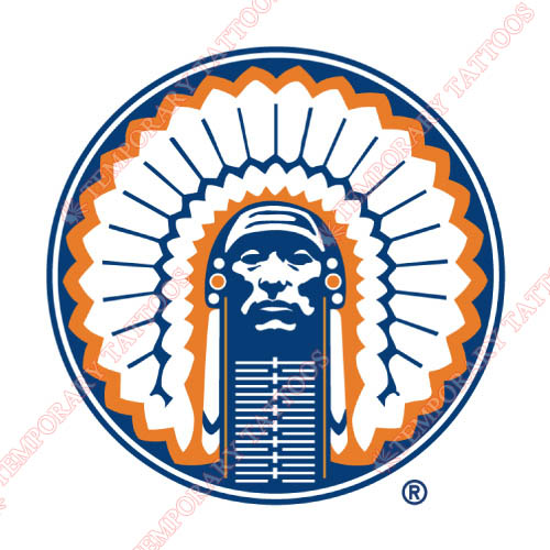 Illinois Fighting Illini Customize Temporary Tattoos Stickers NO.4604