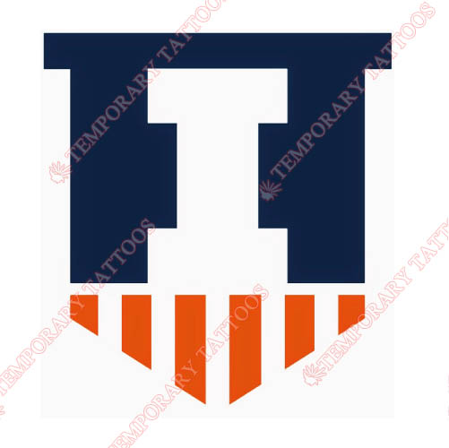 Illinois Fighting Illini Customize Temporary Tattoos Stickers NO.4605