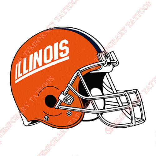 Illinois Fighting Illini Customize Temporary Tattoos Stickers NO.4610