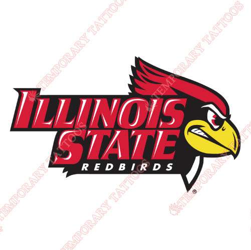 Illinois State Redbirds Customize Temporary Tattoos Stickers NO.4611