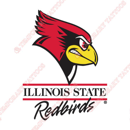 Illinois State Redbirds Customize Temporary Tattoos Stickers NO.4612
