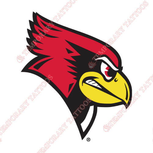 Illinois State Redbirds Customize Temporary Tattoos Stickers NO.4613