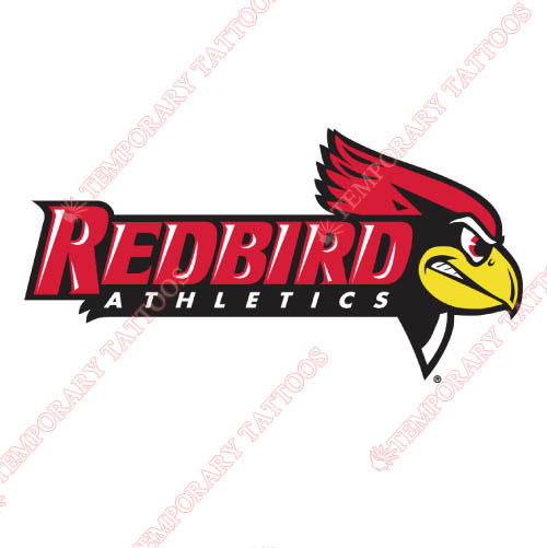Illinois State Redbirds Customize Temporary Tattoos Stickers NO.4614