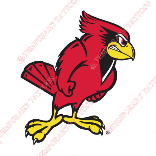 Illinois State Redbirds Customize Temporary Tattoos Stickers NO.4616