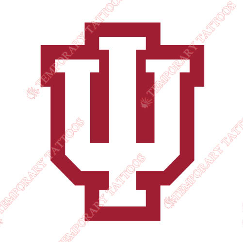 Indiana Hoosiers Customize Temporary Tattoos Stickers NO.4628