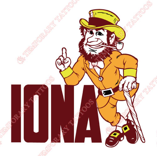 Iona Gaels Customize Temporary Tattoos Stickers NO.4638
