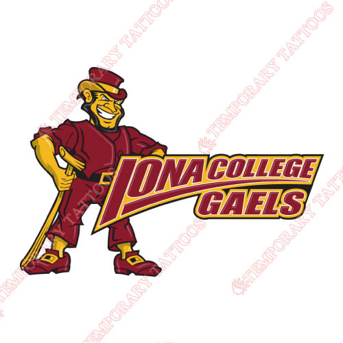 Iona Gaels Customize Temporary Tattoos Stickers NO.4642
