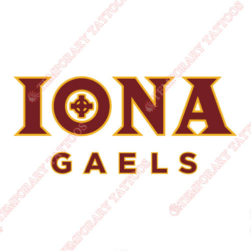 Iona Gaels Customize Temporary Tattoos Stickers NO.4643